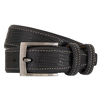 OTTO KERN belts men's belts leather belt reptile optic black 7008