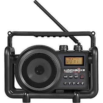 PerfectPro Lunchbox 2 Workplace radio FM, AM AUX splashproof, dustproof, shockproof Black