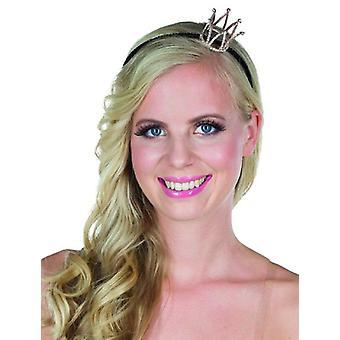 Prinzessin Haarreif mit Mini Krone Accessoire Karneval Königin