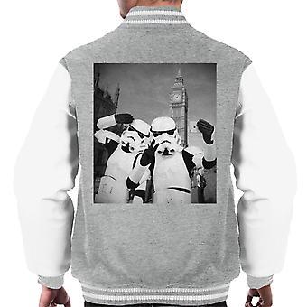 Original Stormtrooper Selfie Big Ben Men's Varsity Jacket