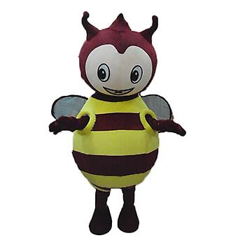 mascot SPOTSOUND of yellow and red, plump, round and cute bug