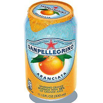 San Pellegrino Sparkling Aranciata Orange Cans