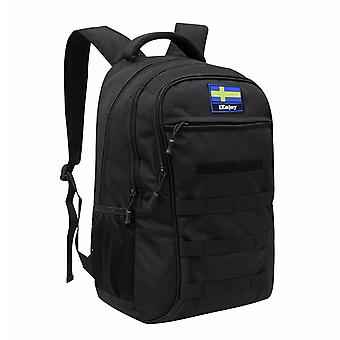 Black backpack in durable fabric