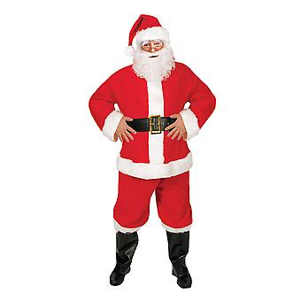 Santa Suit, Budget 5 Piece Father Christmas Costume