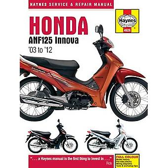 Honda ANF125 Innova Service and Repair Manual - 2004-2012 by Matthew C