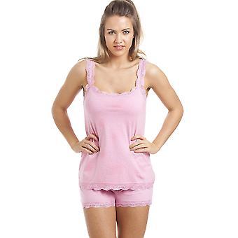 Camille rose coton bref et gilet ensemble Pyjama