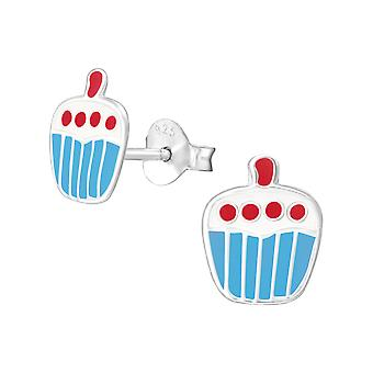 Cupcake - 925 Sterling Hopea Värikäs Korva Nastat - W3674x