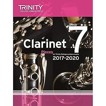 Clarinette examen pièces 7e année 2017-2020 (Score & partie)