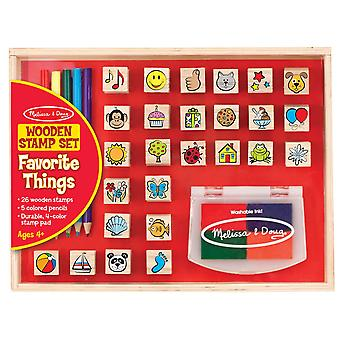 Melissa & Doug Wooden Favourite Objects Stamp Set