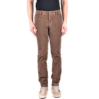 Incotex Ezbc093022 Men's Brown Cotton Pants