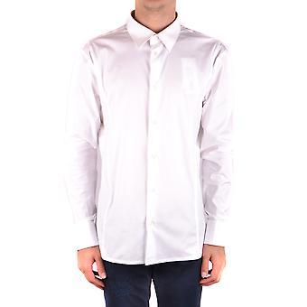 Bikkembergs Ezbc101041 Hombres's Camisa de Algodón Blanco