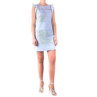 Michael Kors Ezbc063094 Women's Light Blue Cotton Dress