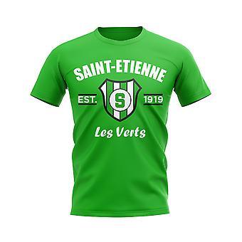 Saint-Étienne gegründet Fußball T-Shirt (grün)