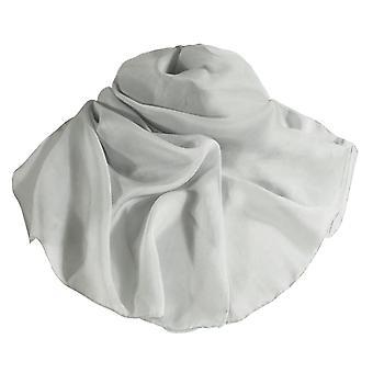 جمع الأبدية عادي الفضة Oblong نقية الحرير الشيفون وشاح
