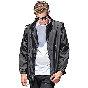 Cotton Addict Mens Nylon Hooded Sports Windbreaker Jacket