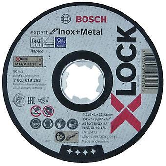 Bosch X-LOCK Expert Metal INOX 115x22mm Straight Cutting Disc