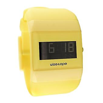 Wize and Ope Classic  Yellow Digital  Watch WO-ALL-14