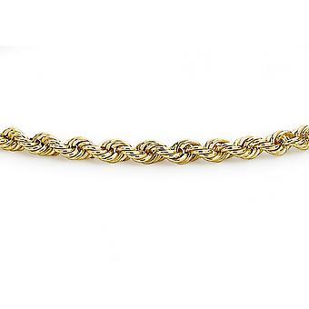 Evighet 9ct vitguld guld damer ihåliga rep arm band