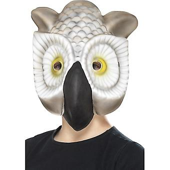 Owl Mask, Grey & White, EVA
