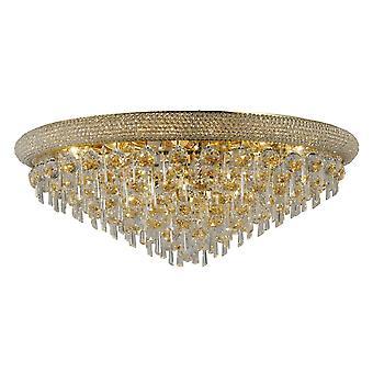 Diyas Alexandra Ceiling 16 Light French Gold/Crystal