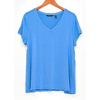 H par Halston Women-apos;s Top Essentials V-Neck Blue A306231