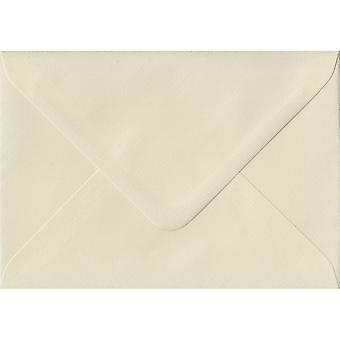Ivory Laid Gummed C7/A7 Coloured Ivory Envelopes. 100gsm FSC Sustainable Paper. 82mm x 113mm. Banker Style Envelope.