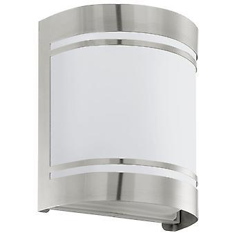 Lámpara de pared de acero inoxidable de exterior IP44 Eglo Cerno