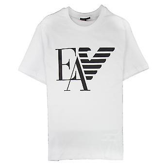 Emporio Armani Armani Jeans EA Eagle Print logo T-paita Bianco Ottico 0100