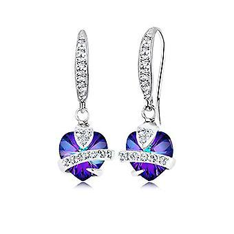 Elli silver kvinnors Örhängen 925-lila kristall