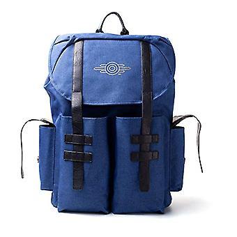 Fallout FALLOUT 76 Vault-tec Gold Foil Logo Backpack - Unisex - One Size - Blue Melange/Black (BP222483FAL) Casual Backpack - 41 cm - Blue (Blue)