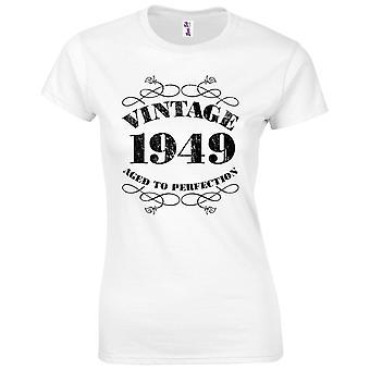 70 års fødselsdag gaver til kvinder hendes vintage 1949 T-shirt