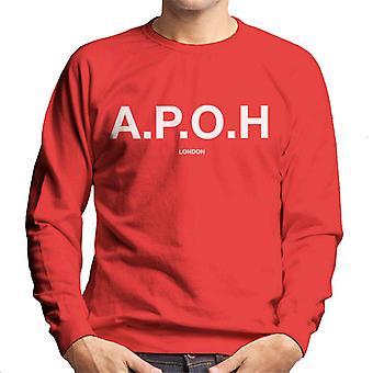 A. P. O. H klassisk hvid logo mænd ' s sweatshirt