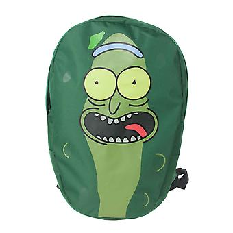 Rick and Morty Backpack Pickle Rick Face Shaped new Official Green