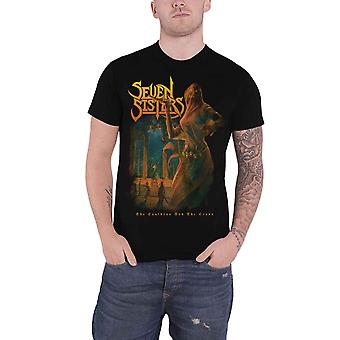 Seven Sisters T Shirt The Cauldron And The Cross Logo new Official Mens Black