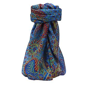 Mulberry Silk Traditional Square Scarf Osh Blue par Pashmina et Soie