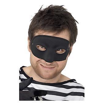 Erwachsene schwarz Einbrecher Eyemask Fancy Dress Zubehör