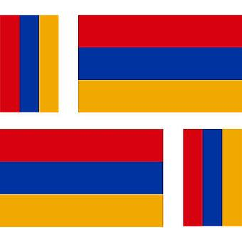 4 X Sticker Sticker Sticker Motorcycle Car Valise Pc Flag Armeia Flag Armenia