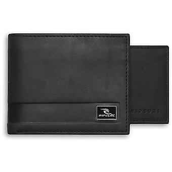 Rip Curl Section RFID 2 In 1 Leather Wallet in Black