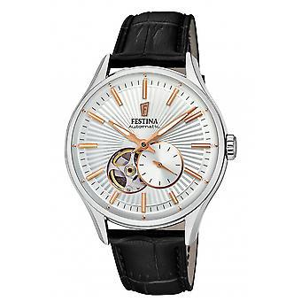 Festina F16975-1 Hombres's Reloj de pulsera automático de marcación blanca