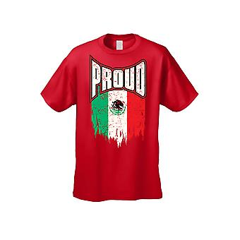 Mannen ' s trots Mexicaanse vlag Mexico korte mouw T-shirt