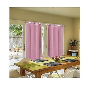 2 Pcs 3 Layers 140X244Cm Blockout Curtains Soft Gauze