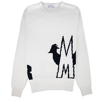Moncler Maglione Knitted Crewneck Off White