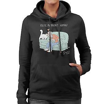 Simon's Cat My Favorite Human Women's Hooded Sweatshirt