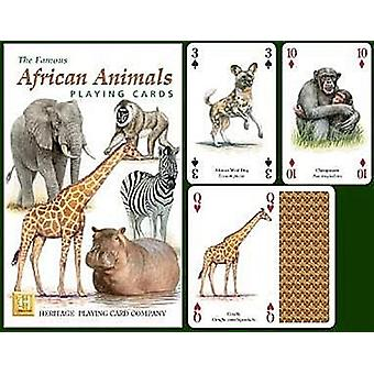 African Animals Set Of 52 Playing Cards (+ Jokers)