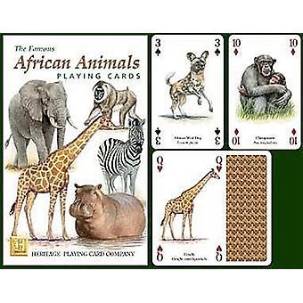 Afrikanische Tiere Satz von 52 Spielkarten (+ Joker)
