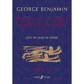 Lessons in Love and Violence Vocal Score by George Benjamin