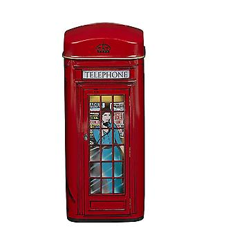 English telephone box english tea tin 14 teabags