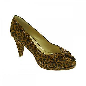 Peter Kaiser Sirma Leopard Print High Heel Peep Toe Court Shoe
