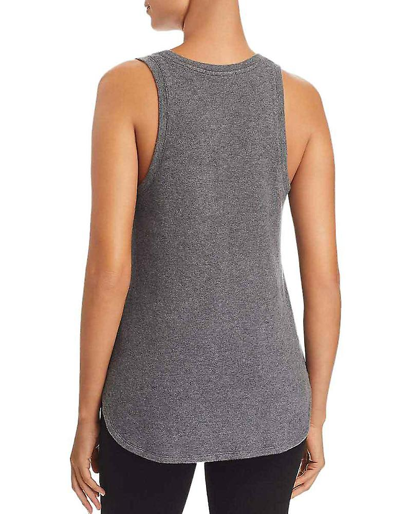 Three Dots Womens Brushed Fleece Tank Top Sweater
