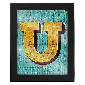 Letter U Jigsaw & Frame by Ridley?s
